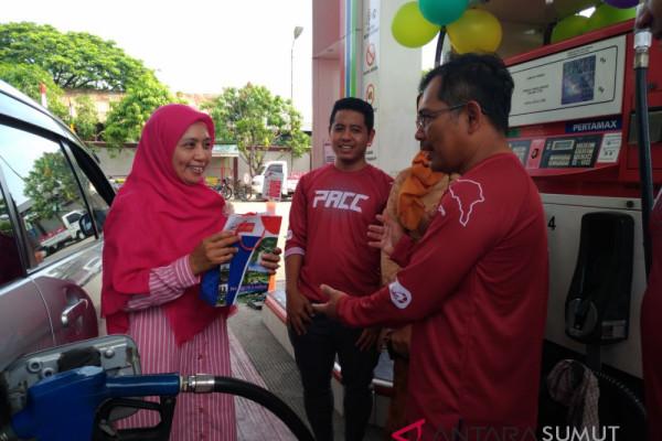 Pertamina beri hadiah pengemudi wanita pembeli pertamax