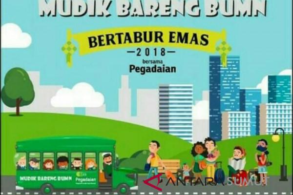 Pegadaian Medan sediakan mudik gratis 250 nasabah