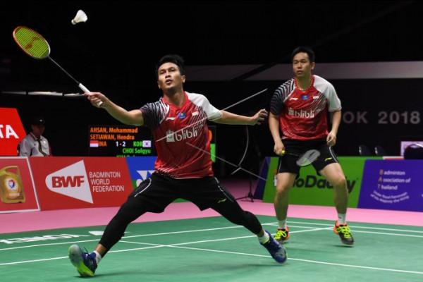 Tim Thomas Indonesia kalahkan Korsel 3-2