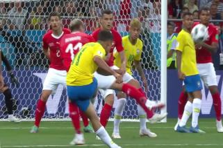 Swiss tahan imbang Brasil 1-1