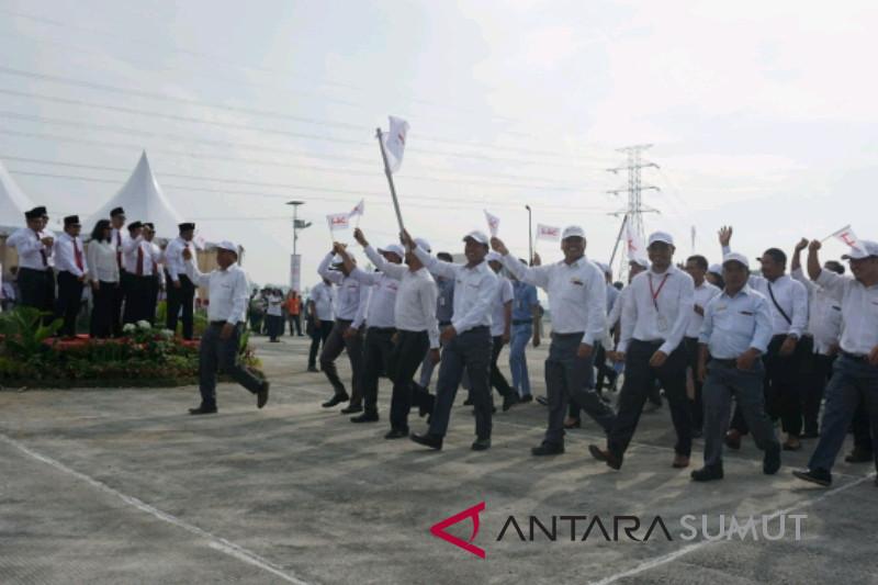 Upacara peringatan Kemerdekaan RI ke-73 BUMN di Sumut