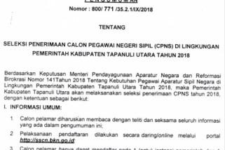Pemkab Taput buka penerimaan 210 formasi CPNS