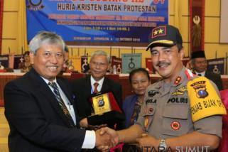 Kapolda ajak HKBP berperan jaga kondusifitas jelang Pilpres