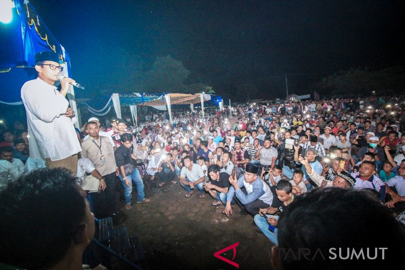 Warga Palas - Paluta titip pesan ke Prabowo - Sandi