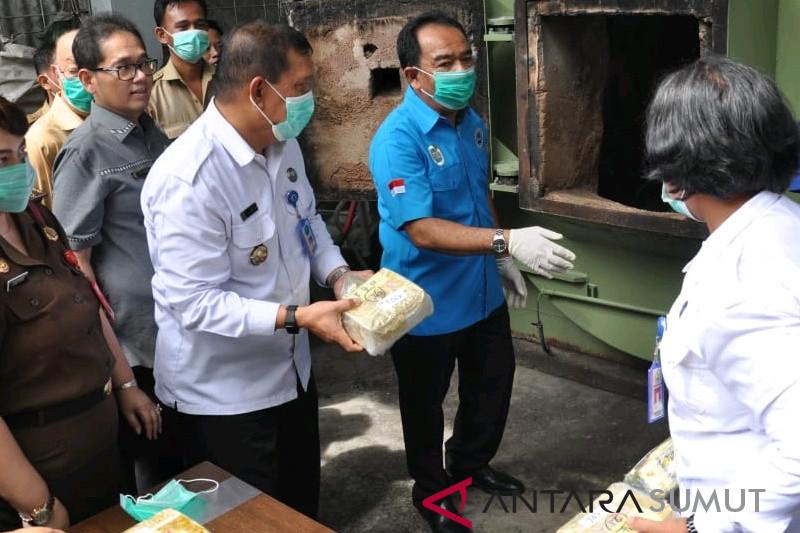 BNN Sumut musnahkan 53.386 gram sabu
