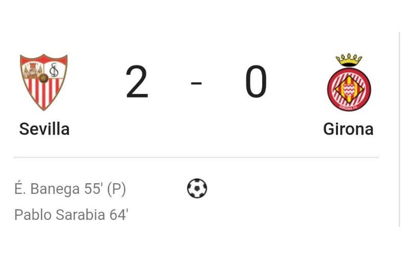 Setelah kalahkan Girona, Sevilla kembali ke peringkat kedua