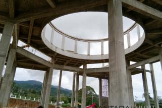 Konstruksi Masjid Agung Tapanuli Selatan rampung