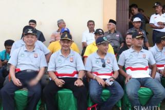 Syahrul hadiri pembukaan turnamen sepak bola Kapolres Tapsel Cup 2018